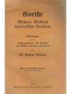 Goethe  Wilhelm Meisters theatralische Sendung
