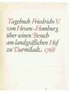 Tagebuch Friedrichs V. von Hessen-Homburg über s..