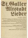 "St. Galler Altstadtlieder vom Cabaret ""Sälewie"""