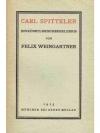 Carl Spitteler  -  ein künstlerisches Erlebnis