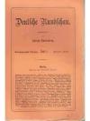 Deutsche Rundschau 29. Jahrgang 1902/03