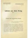 Lehren aus dem Krieg. Konvolut (9 Hefte)