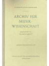 Archiv für Musikwissenschaft. 17. Jahrgang 1960