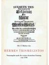 Die XVII Bücher des Hermes Trismegistos