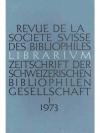 Librarium. 16. Jahr, 1973