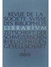 Librarium. 12. Jahr 1969