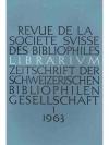 Librarium. 6. Jahr 1963