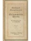 Gesammelte Werke in sechs Bänden • Gerhart Haupt..