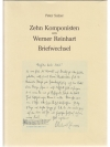 Zehn Komponisten um Werner Reinhart, Band III Br..