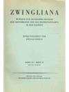 Zwingliana. Band XI