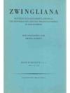 Zwingliana. Band XVIII