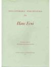 Vetta Litteraria Ovra Musicala da Hans Erni