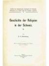 Geschichte der Reliquien in der Schweiz II.