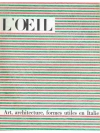 L'Oeil. Revue d'art  mensuelle 1962