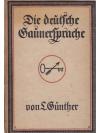 Die deutsche Gaunersprache