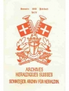 Schweizer Archiv für Heraldik Jahrbuch 1981