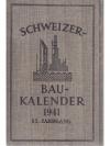 Schweizerischer Bau-Kalender 1941