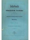 Jahrbuch für Schweizerische Geschichte 9. Band