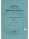 Jahrbuch für Schweizerische Geschichte 3. Band