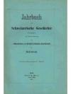 Jahrbuch für Schweizerische Geschichte 32. Band