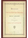 Denkschrift der Berner Liedertafel