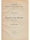 Studien zur Theorie des Reims