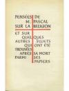 Blaise Pascal, Pensées. band 1 + 2
