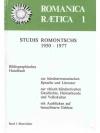 Romanica Raetica 1