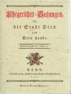 Ehegerichts-Satzungen, für die Stadt Bern und De..