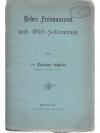 Ueber Freimaurerei und Odd-Fellowtum