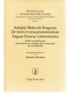De pronuntiatione linguae Graecae commentarius