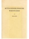 Mittelniederländische Wortstudien