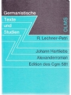 Johann Hartliebs Alexanderroman