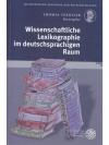 Wissenschaftliche Lexikographie im deutschsprach..