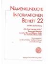 Namenkundliche Informationen Beiheft 22