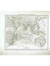 Druckgraphik: - Physikalische Karte vom Indische..