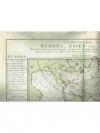Druckgraphik: - Naturgraenzenkarte von Europa, A..