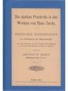 Die starken Praeteritum in den Werken von Hans S..