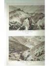 Druckgraphik: - Ire Vue des cascades du Tesin