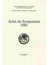 Actes du Symposium 1983