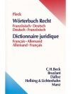 Wörterbuch Recht   Französisch - Deutsch  Deutsc..