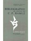 Bibliographie de l'Oeuvre de C.F. Ramuz