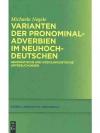Varianten der Pronominaladverben im Neuhochdeuts..