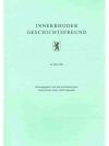 Innerrhoder Geschichtsfreund 34. Heft 1991