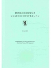 Innerrhoder Geschichtsfreund 45. Heft 2004