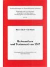 Reisenotizen und Testament von 1567