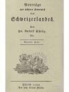 Beyträge zur nähern Kenntnis des Schweizerlandes..