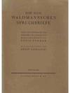 Die sog. Waldmannschen Spruchbriefe
