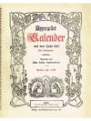 Appenzeller Kalender auf das Jahr 1957