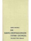 Die Dante-Übertragungen Stefan Georges